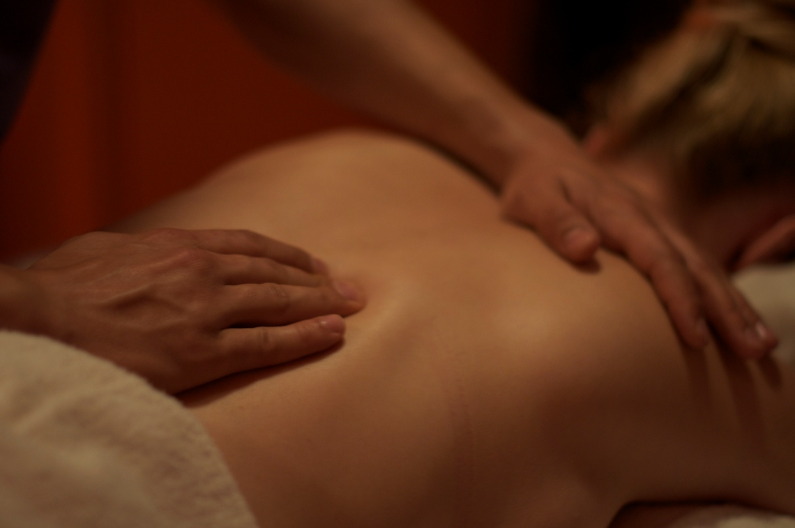 """Photo """"Massage"""" by Nick J. Webb, CC BY 2.0, available from https://farm3.staticflickr.com/2648/3968719105_454fb4cb78_o_d.jpg"""